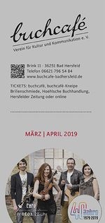 buchcafè Programm März - April 2019