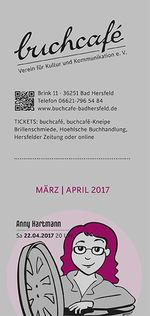 buchcafè Programm März - April 2017