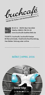 buchcafè Programm März - April 2016